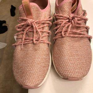 Blush pink Puma sneakers